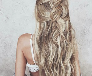 blonde, hairstyle, and look image
