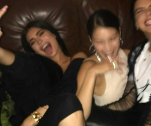kylie jenner, kendall jenner, and bella hadid image