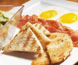 breakfast, yam, and egg image