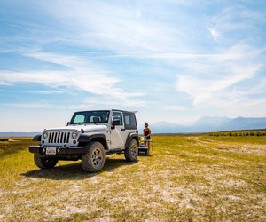 california, jeep, and mammoth image
