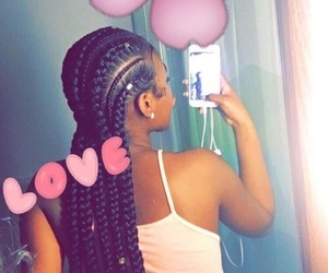 braids, hairstyles, and tumblr image