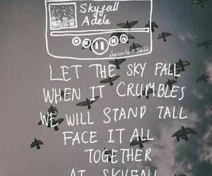 Adele, skyfall, and Lyrics image