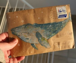 whale, art, and Letter image