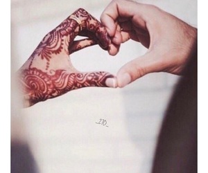 love, henna, and heart image
