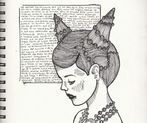 blanco y negro, draw, and journal image