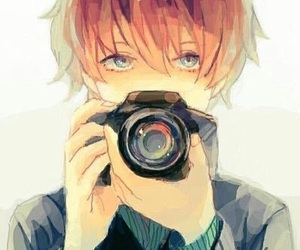 anime, camera, and boy image