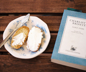 book, food, and vintage image