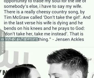 Jensen Ackles, supernatural, and love image