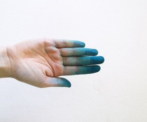 blue, hand, and photography image