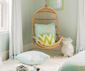 decor, interior design, and swing chair image