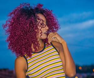 curly, hair, and woman image