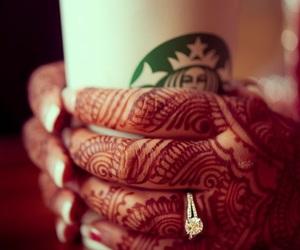 henna and starbucks image