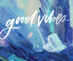 good vibes blue image