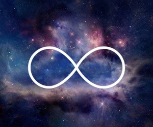 galaxy, infinity, and wallpaper image