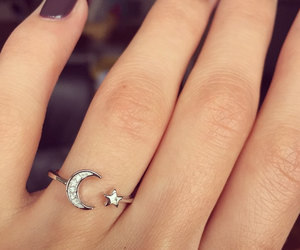 ring and moon and star ring image