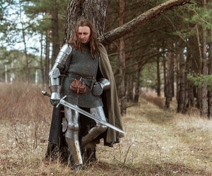 forest, long hair man, and knight image