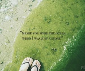 coast, foot, and ocean image