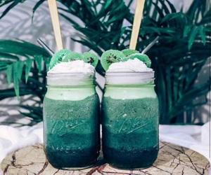 cream, delicious, and kiwi image