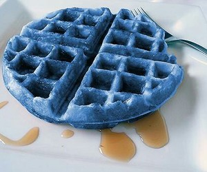 blue, food, and waffles image