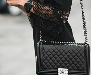 fashion, black, and chanel image