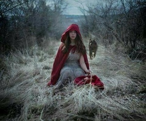 fantasy, little red riding hood, and wolf image