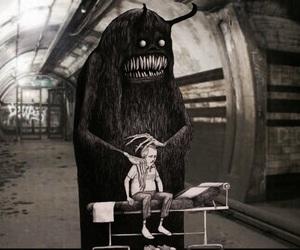 anxiety, drawings, and subway image
