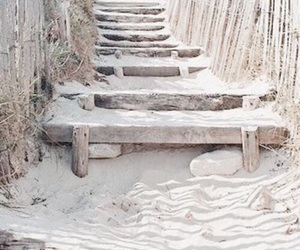 beach, sand, and white image