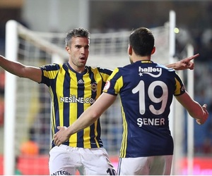 football, robin van persie, and fenerbahçe image