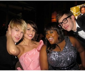 glee, lea michele, and amber riley image