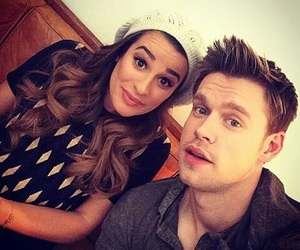 lea michele, glee, and chord overstreet image