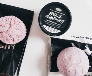 lush, pink, and bath image