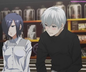 anime couples, kaneki ken, and kaneki x touka image