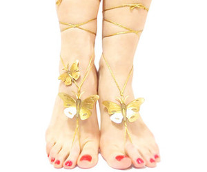 clothing, shoes, and bridesmaid anklet image