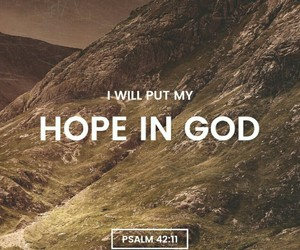 god, hope, and jesus image