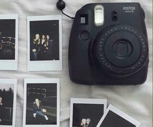 black, polaroid, and camera image