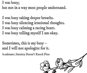 quotes, anxiety, and busy image
