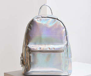 backpack, holographic, and iridescent image
