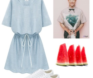 kpop, outfit, and Polyvore image