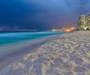by night, storm, and cancun image