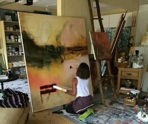 artist, art, and girl image