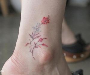 art, foot, and skin image