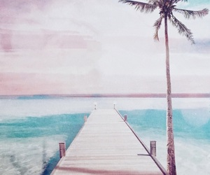 beach, blue, and calendar image
