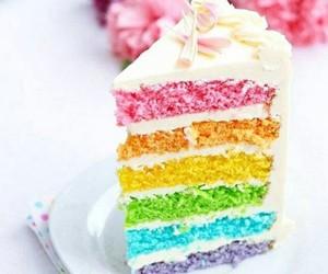 arc-en-ciel and gâteau image