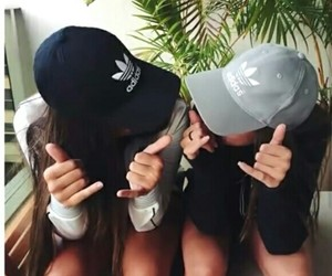 friends, adidas, and bff image
