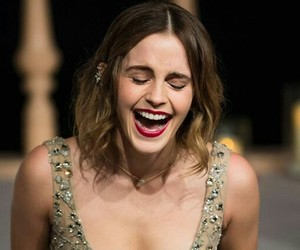 emma watson, beauty and the beast, and laugh image