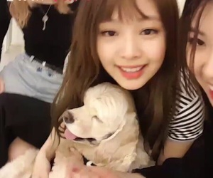 kpop, lisa, and puppy image
