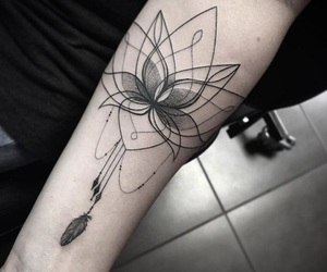 flower, tattoo, and Tatts image