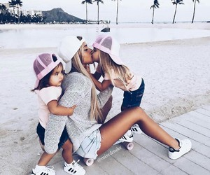 girl, family, and kids image