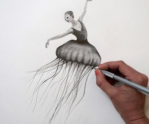 ballerina and drawing image
