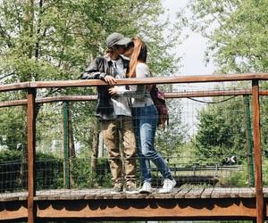 bridge, couple, and love image